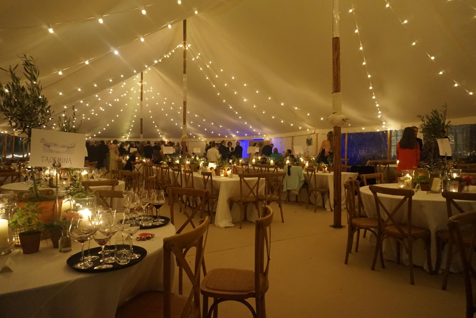 White Festoon Wedding